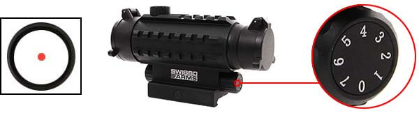 red dot tube 1x35 multi rails point rouge swiss arms 263866 luminosite airsoft 1 optimized