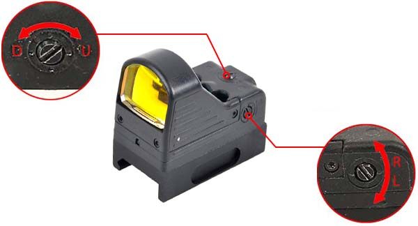 red dot type rmr docter sight point rouge mrds picatinny noir ajustable derive elevation airsoft 1