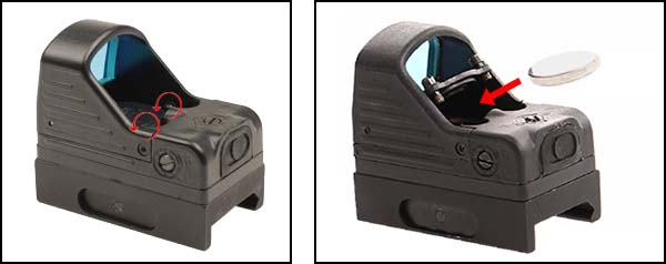 red dot type rmr docter sight point rouge mrds picatinny noir pile airsoft 1