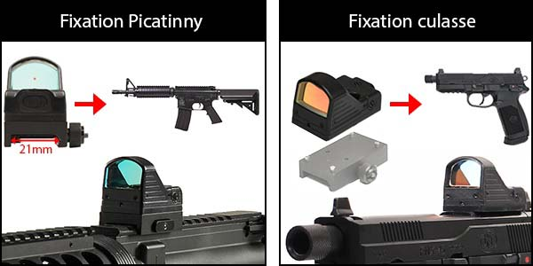 red dot type rmr docter sight point rouge mrds picatinny noir plateforme rmr airsoft 1