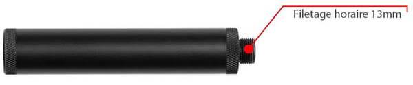 silencieux pour réplique cz bersa 110x20 mm horaire noire 15924 filetage airsoft 1 optimized