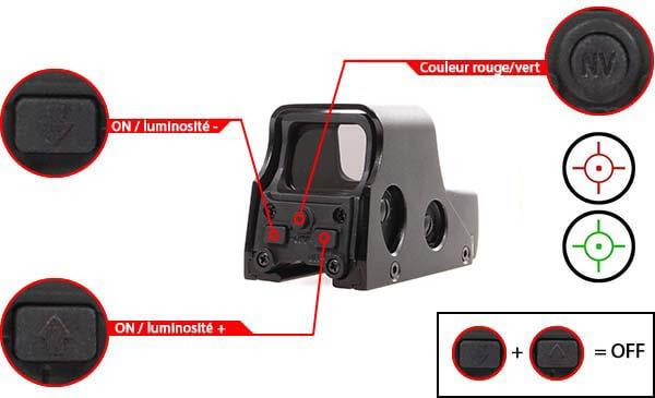 viseur holographique advanced type 551 rti optics noir point rouge vert airsoft 1 optimized