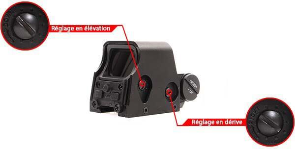 viseur holographique advanced type 553 rti optics noir ajustable derive elevation airsoft 1 optimized