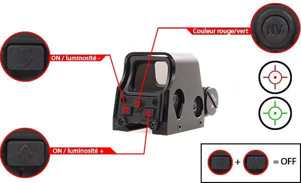 viseur holographique advanced type 553 rti optics noir point rouge vert airsoft 1 optimized