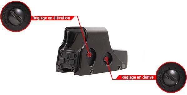 viseur holographique holosight 551 asg noir point rouge vert 16833 ajustable derive elevation airsoft 1 optimized