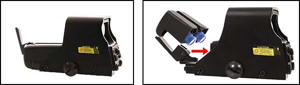 viseur holographique holosight 551 asg noir point rouge vert 16833 piles airsoft 1 optimized