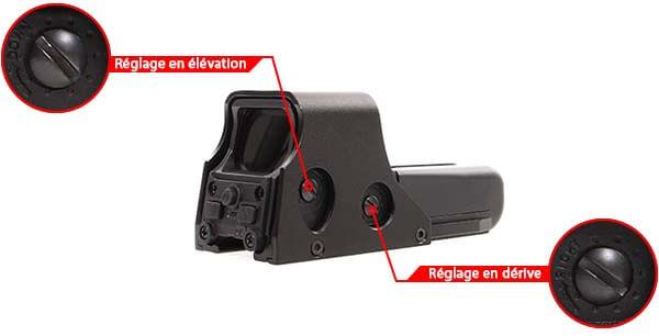 viseur holographique holosight type 552 delta tactics noir ajustable derive elevation airsoft 1 optimized