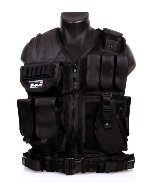 Gilet tactique noir avec holster